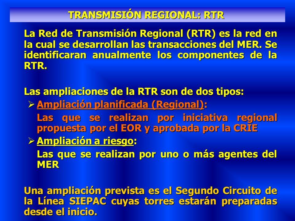 TRANSMISIÓN REGIONAL: RTR
