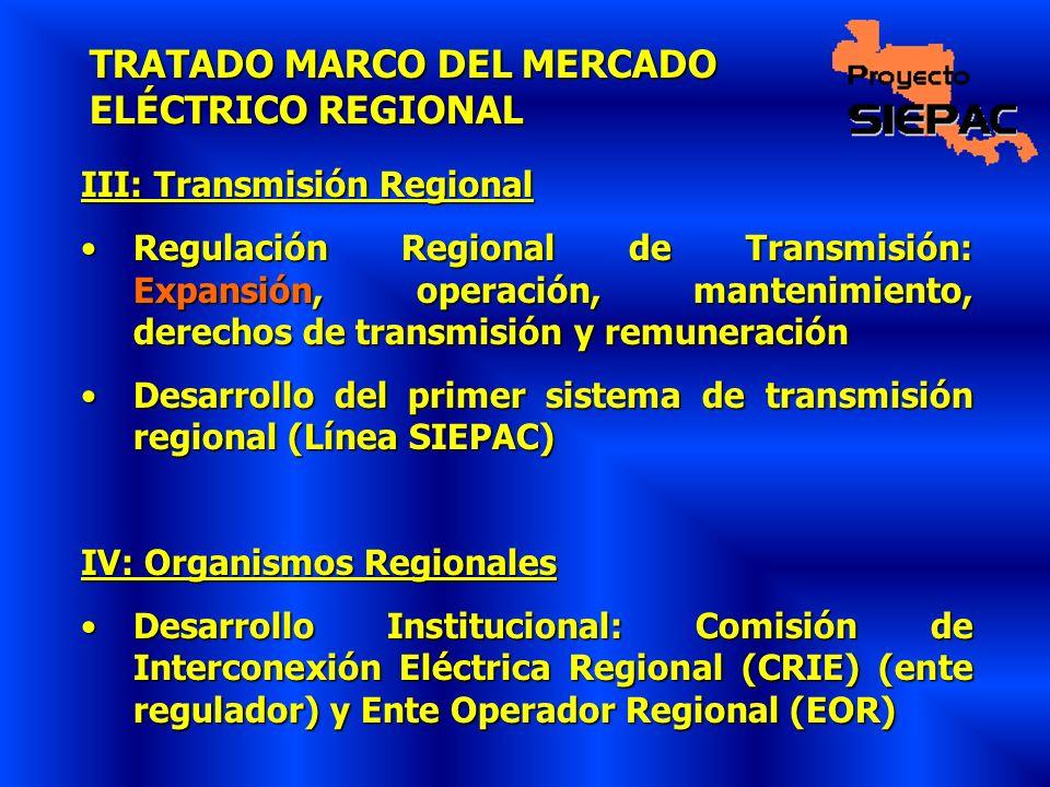TRATADO MARCO DEL MERCADO ELÉCTRICO REGIONAL