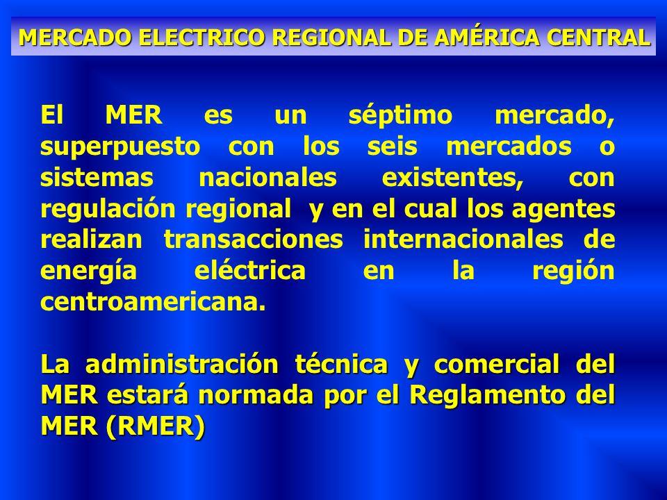 MERCADO ELECTRICO REGIONAL DE AMÉRICA CENTRAL