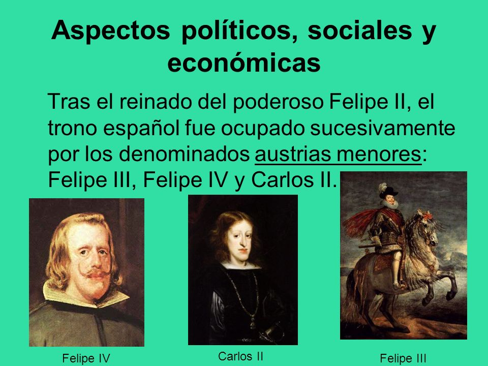 Aspectos políticos, sociales y económicas