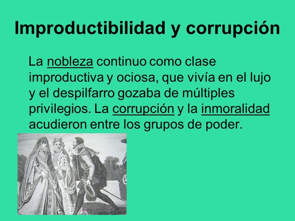 Improductibilidad y corrupción