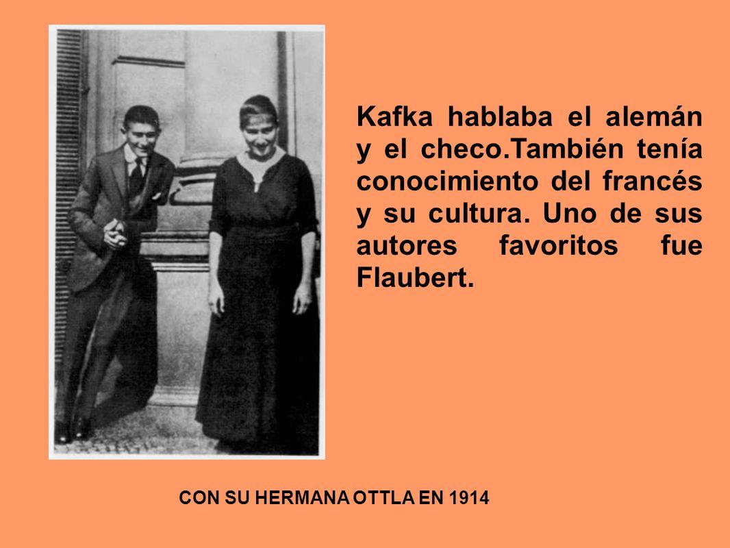 Kafka hablaba el alemán y el checo