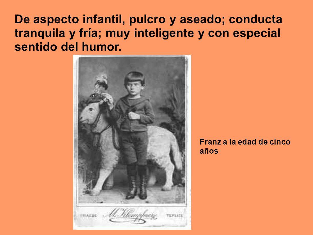 De aspecto infantil, pulcro y aseado; conducta tranquila y fría; muy inteligente y con especial sentido del humor.