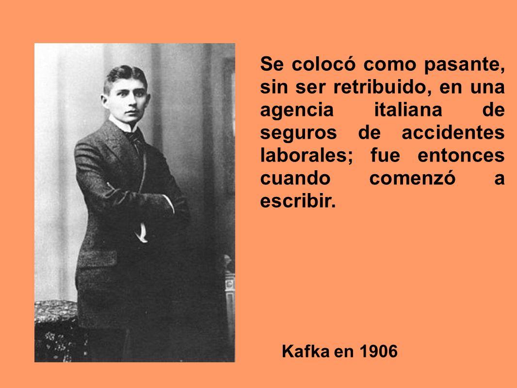 Se colocó como pasante, sin ser retribuido, en una agencia italiana de seguros de accidentes laborales; fue entonces cuando comenzó a escribir.