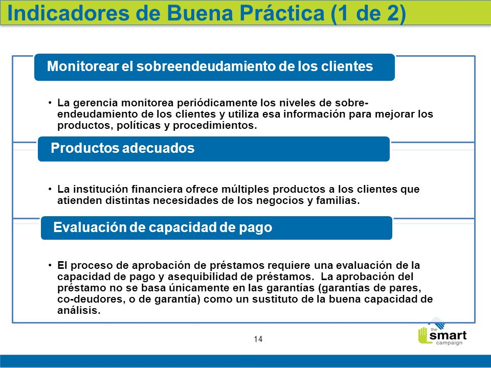 Indicadores de Buena Práctica (1 de 2)