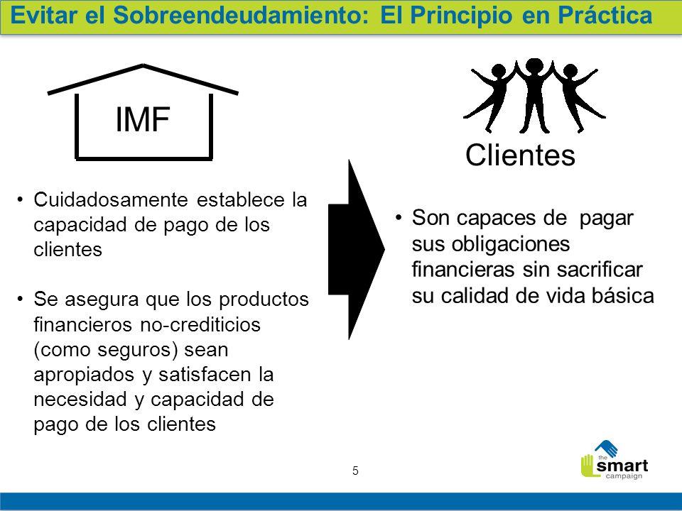 IMF Clientes Evitar el Sobreendeudamiento: El Principio en Práctica