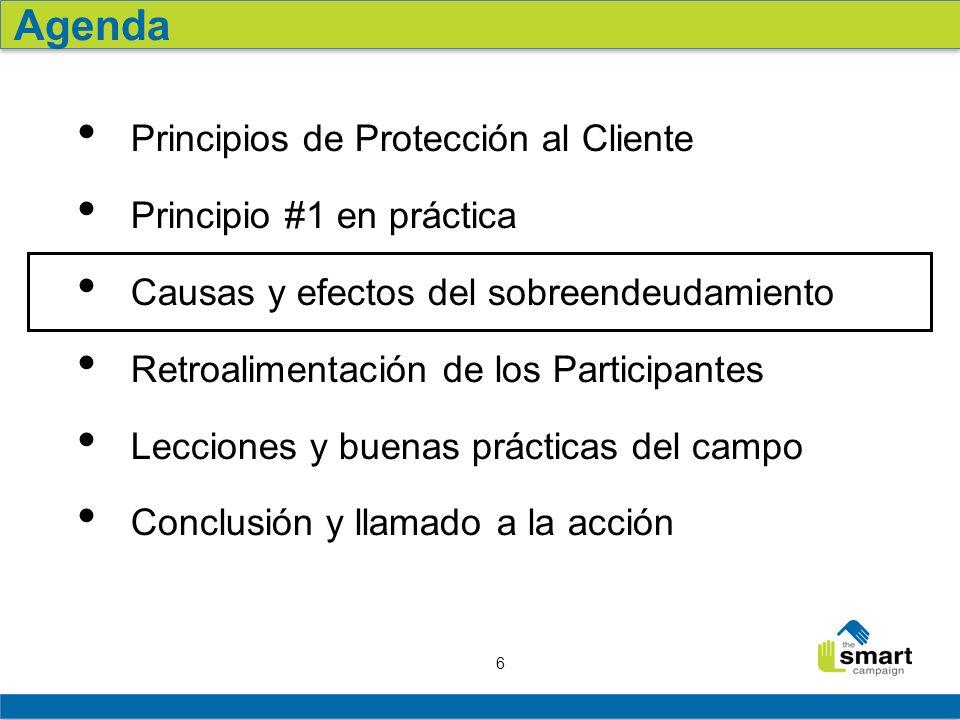 Agenda Principios de Protección al Cliente Principio #1 en práctica
