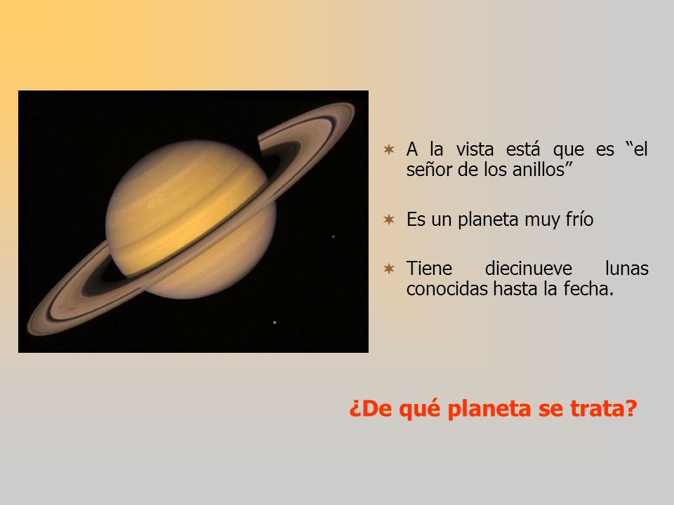 ¿De qué planeta se trata