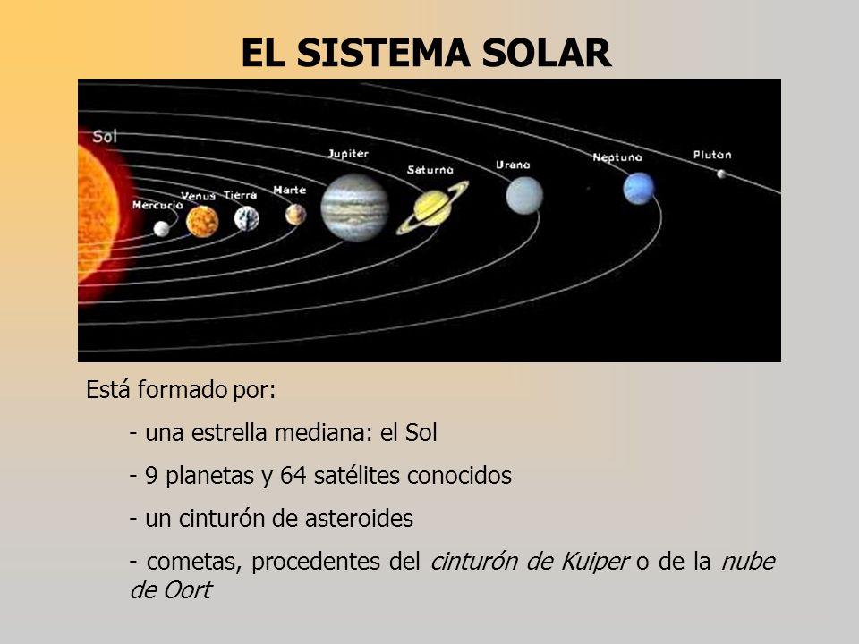 EL SISTEMA SOLAR Está formado por: - una estrella mediana: el Sol