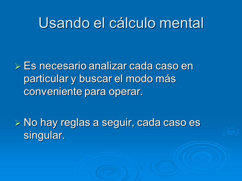 Usando el cálculo mental