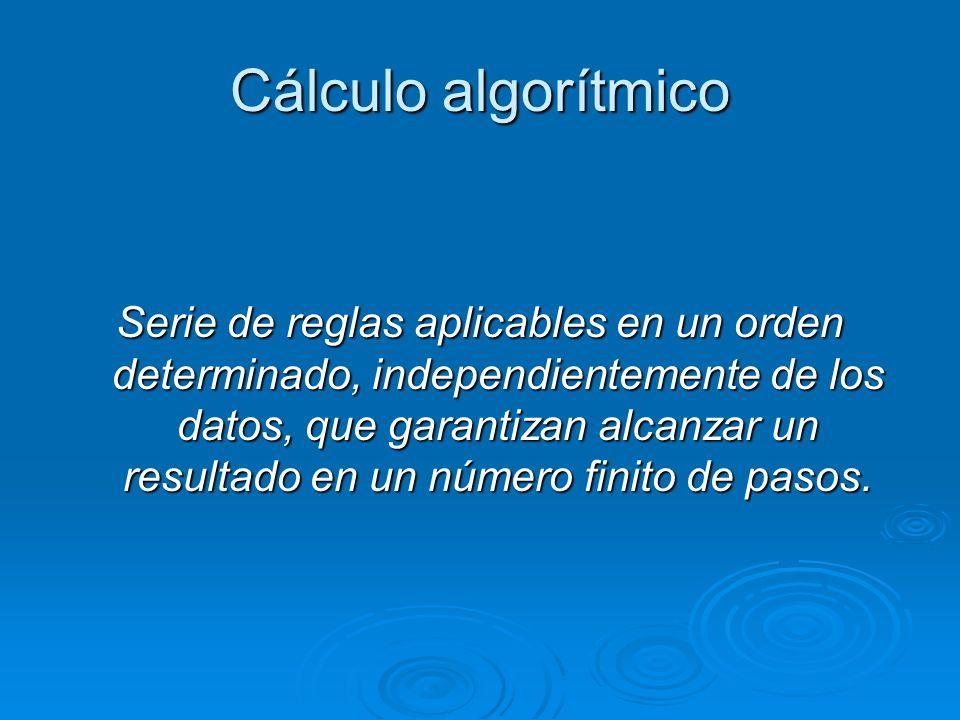 Cálculo algorítmico