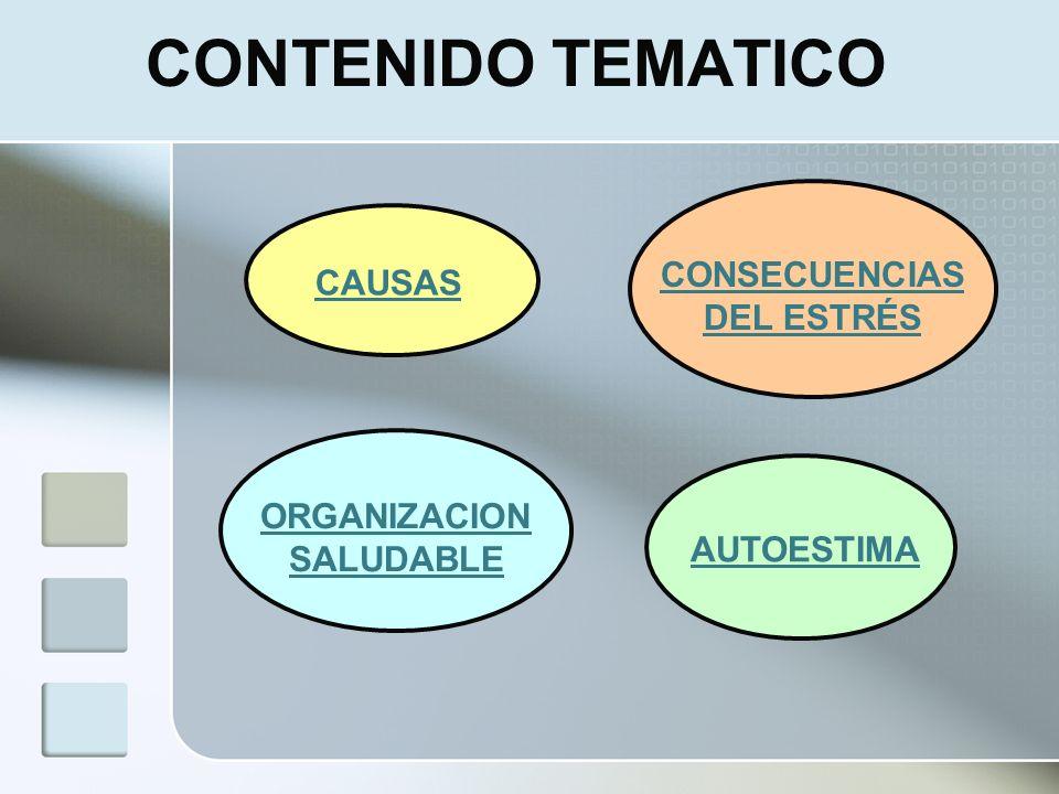 CONSECUENCIAS DEL ESTRÉS ORGANIZACION SALUDABLE