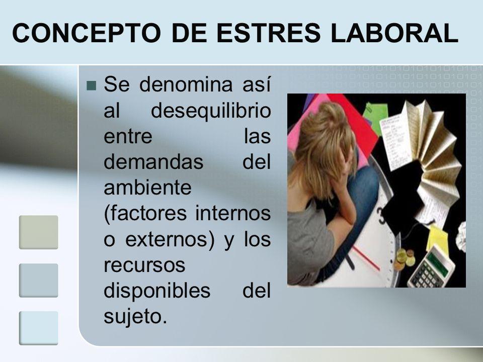 CONCEPTO DE ESTRES LABORAL