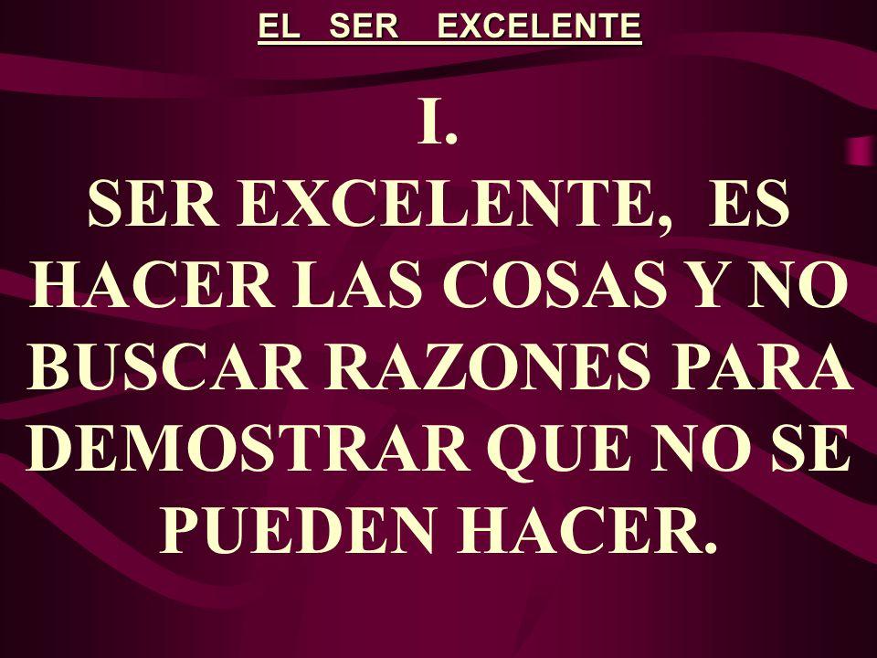 EL SER EXCELENTE I.