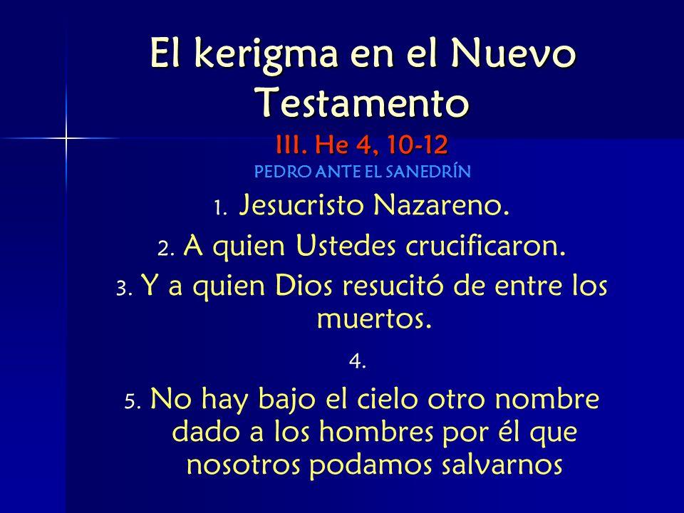 El kerigma en el Nuevo Testamento