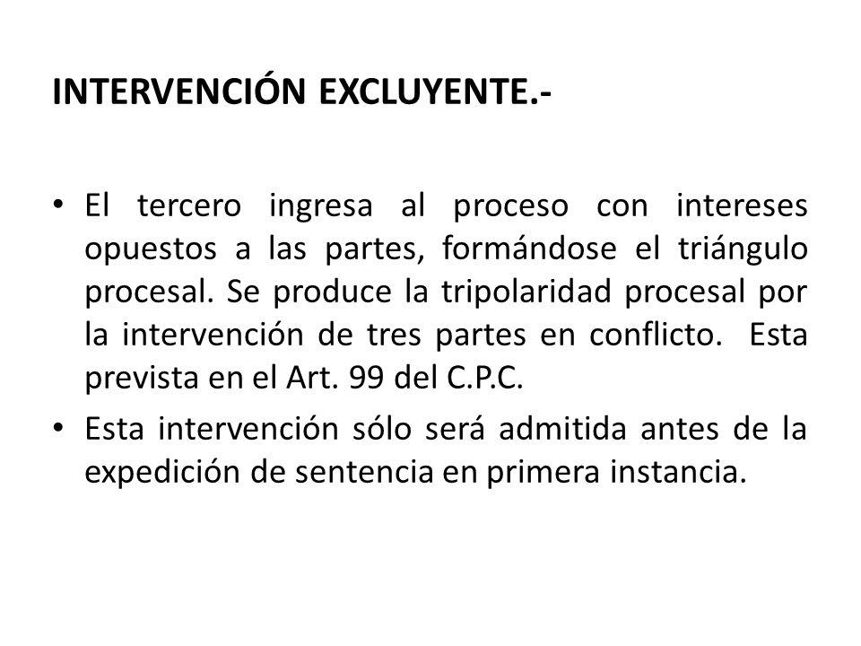 INTERVENCIÓN EXCLUYENTE.-