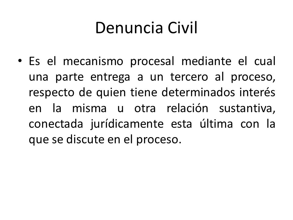 Denuncia Civil