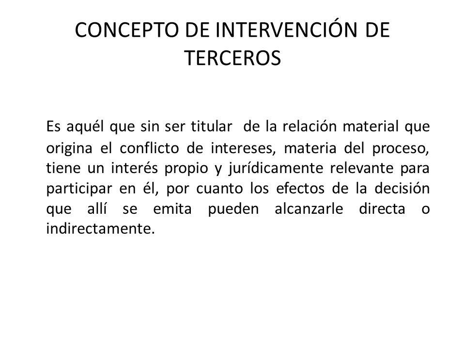 CONCEPTO DE INTERVENCIÓN DE TERCEROS