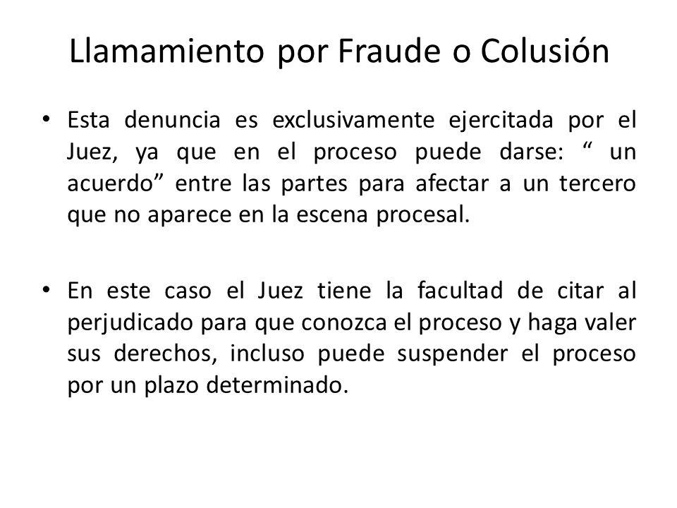 Llamamiento por Fraude o Colusión