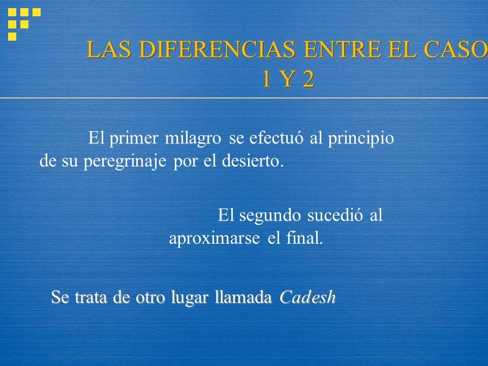 LAS DIFERENCIAS ENTRE EL CASO 1 Y 2
