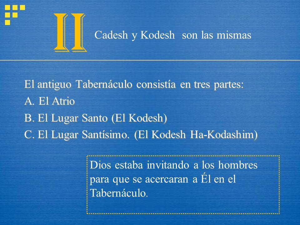 II Cadesh y Kodesh son las mismas