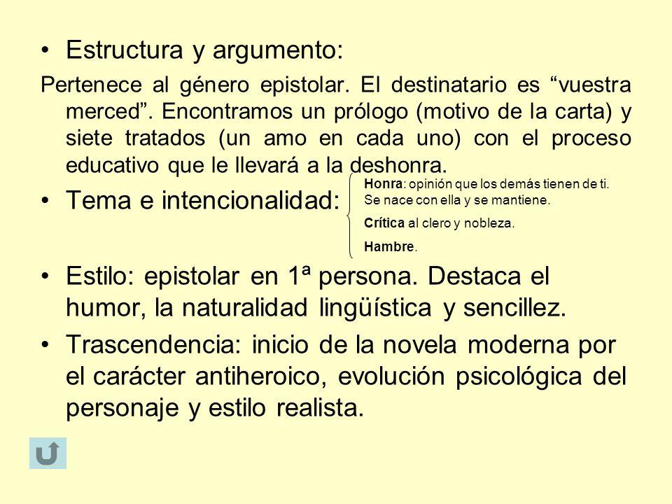 Estructura y argumento: