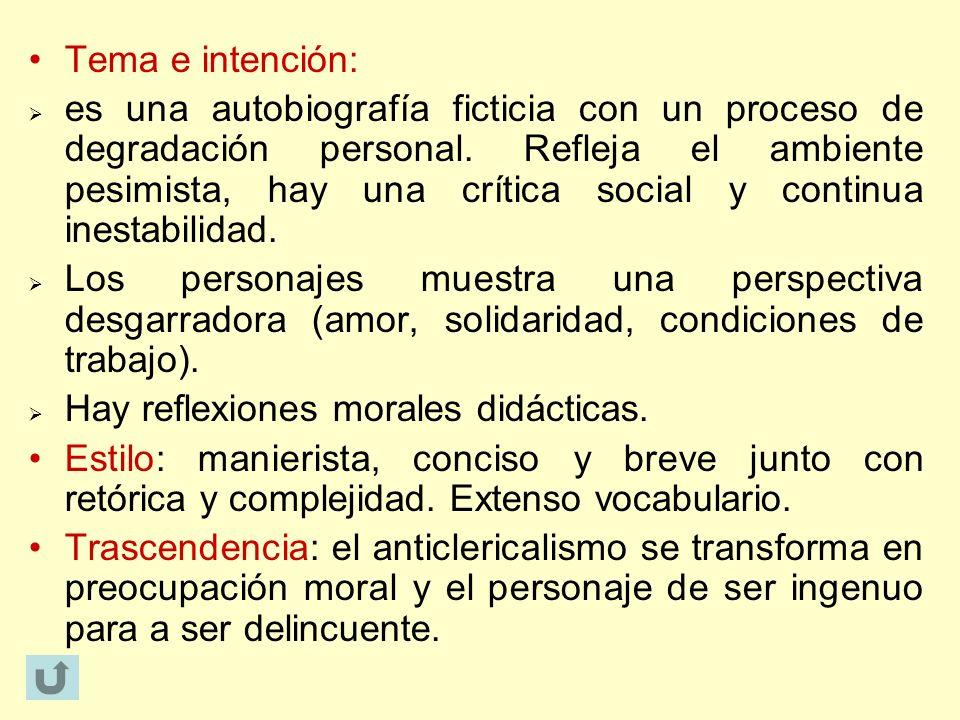Tema e intención: