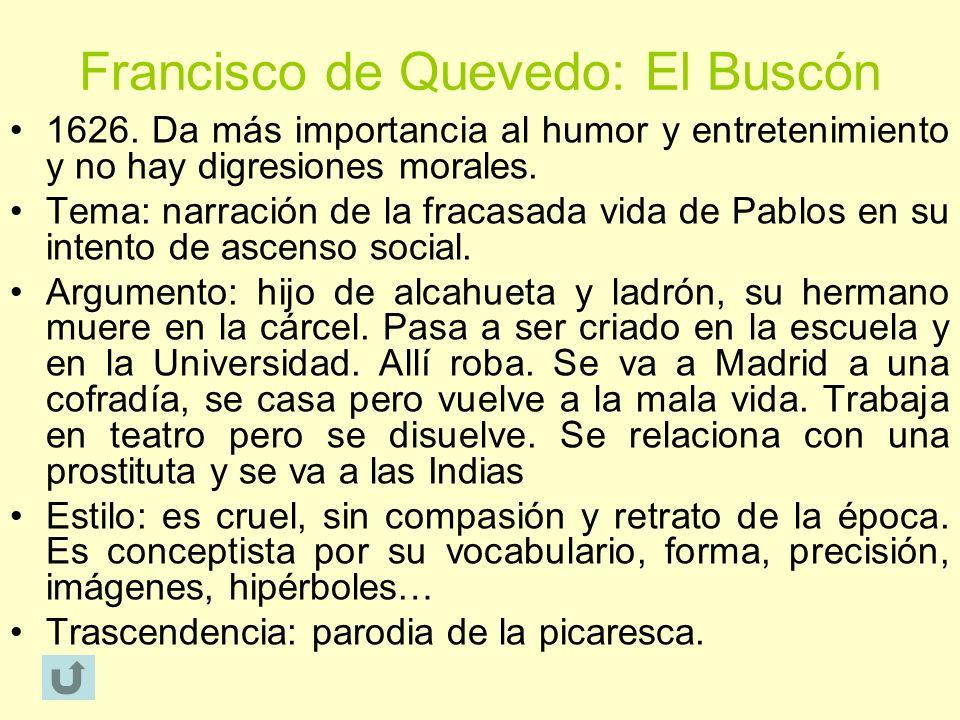 Francisco de Quevedo: El Buscón