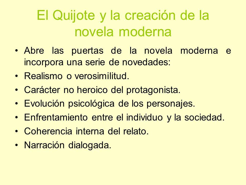 El Quijote y la creación de la novela moderna