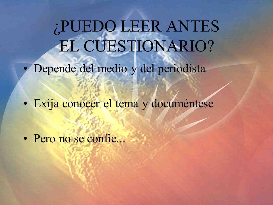 ¿PUEDO LEER ANTES EL CUESTIONARIO