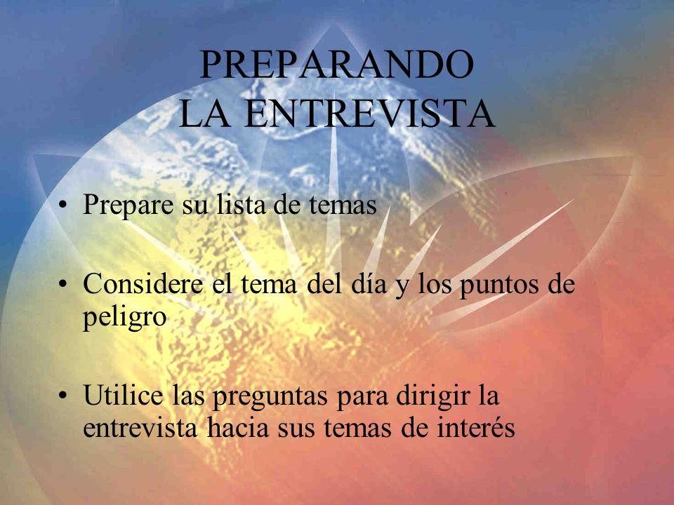 PREPARANDO LA ENTREVISTA