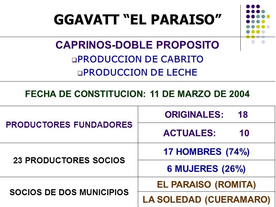 GGAVATT EL PARAISO CAPRINOS-DOBLE PROPOSITO PRODUCCION DE CABRITO