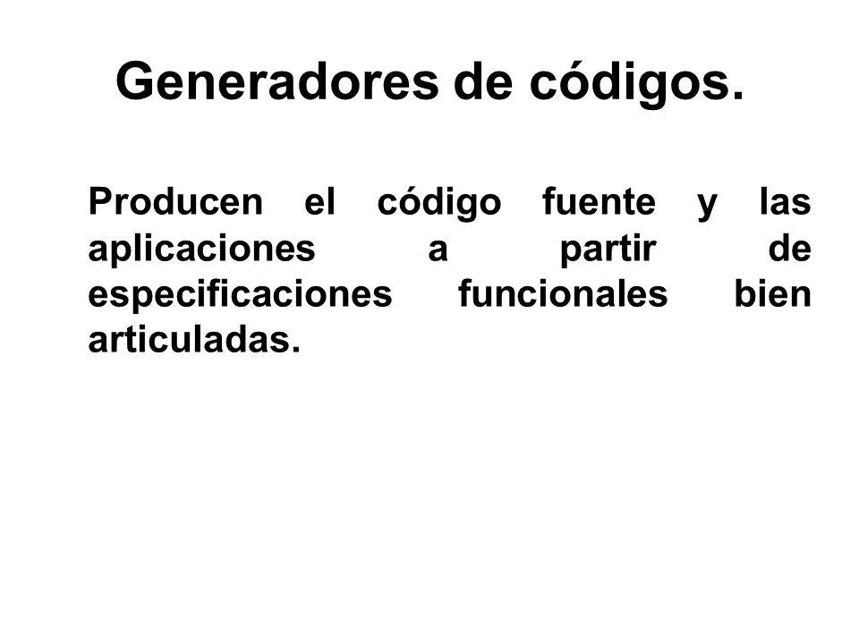 Generadores de códigos.