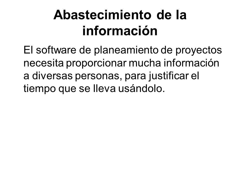 Abastecimiento de la información