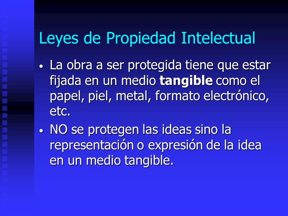 Leyes de Propiedad Intelectual