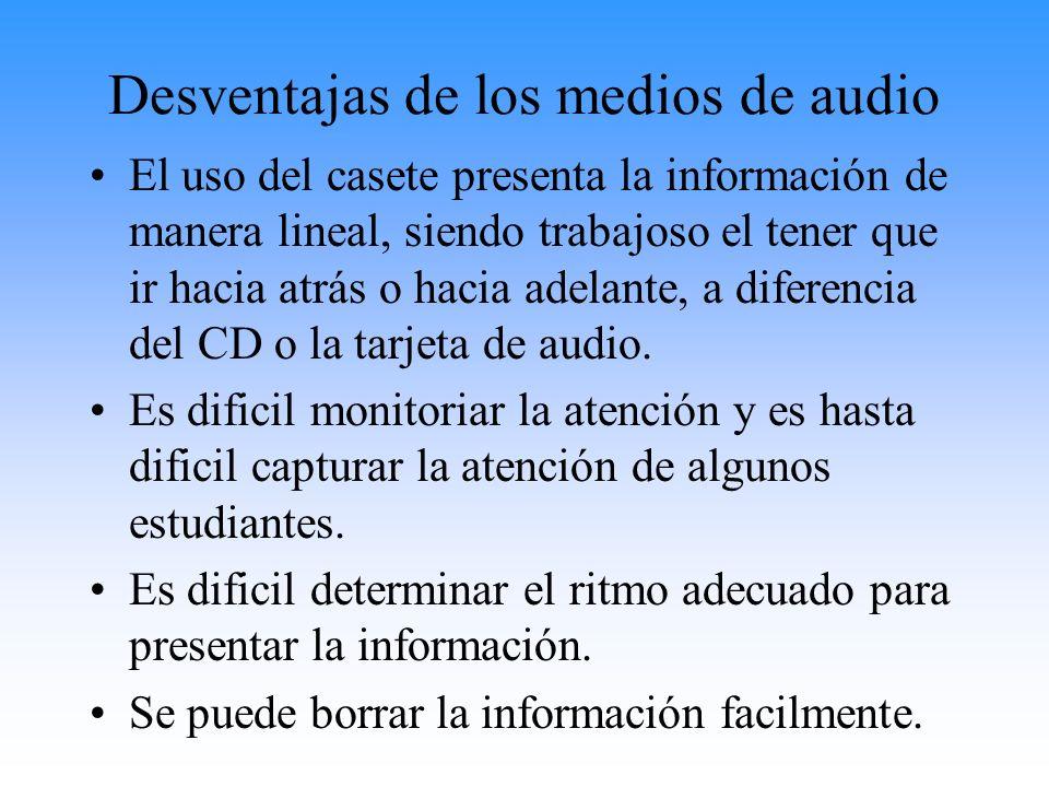 Desventajas de los medios de audio