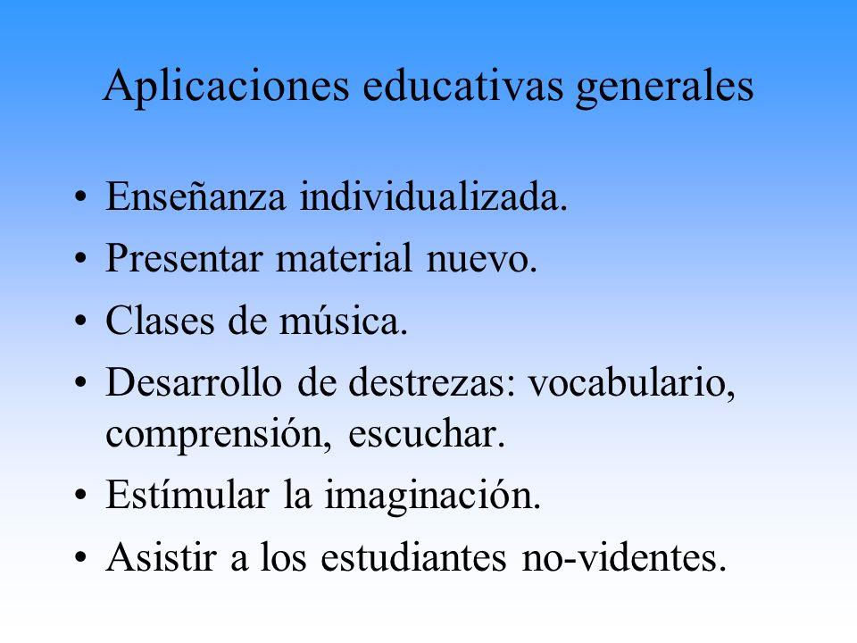 Aplicaciones educativas generales