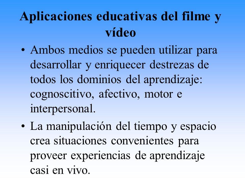 Aplicaciones educativas del filme y vídeo