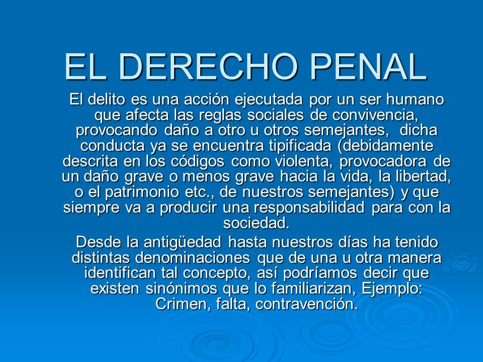 EL DERECHO PENAL