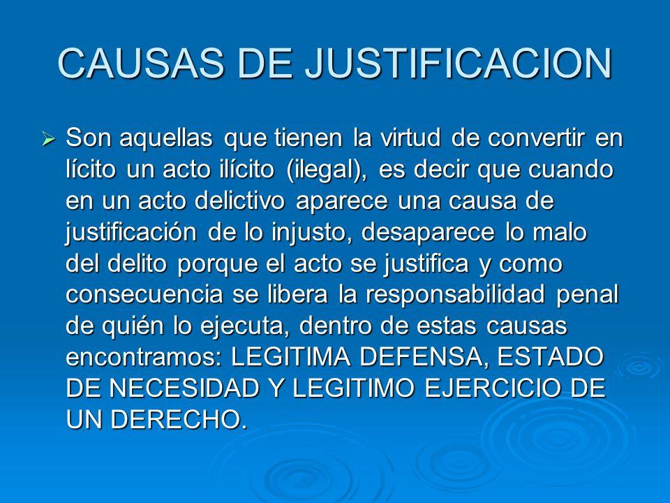 CAUSAS DE JUSTIFICACION
