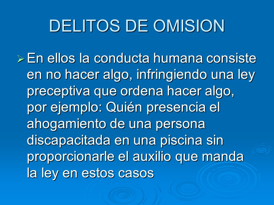 DELITOS DE OMISION