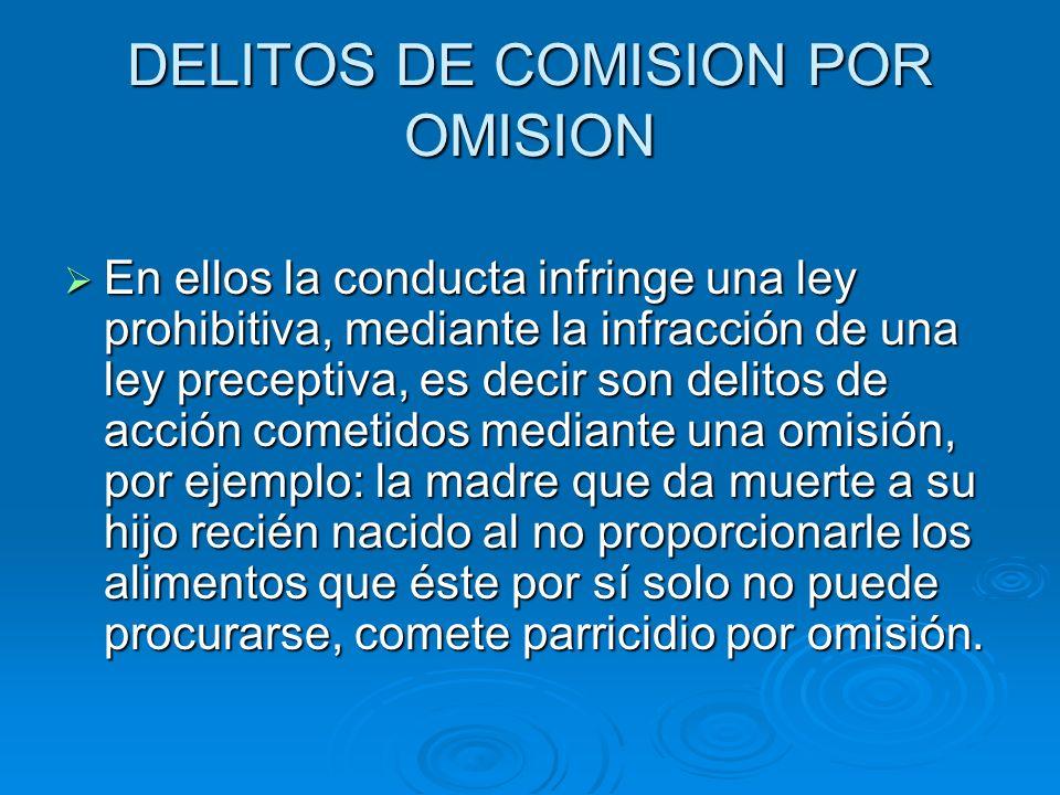 DELITOS DE COMISION POR OMISION