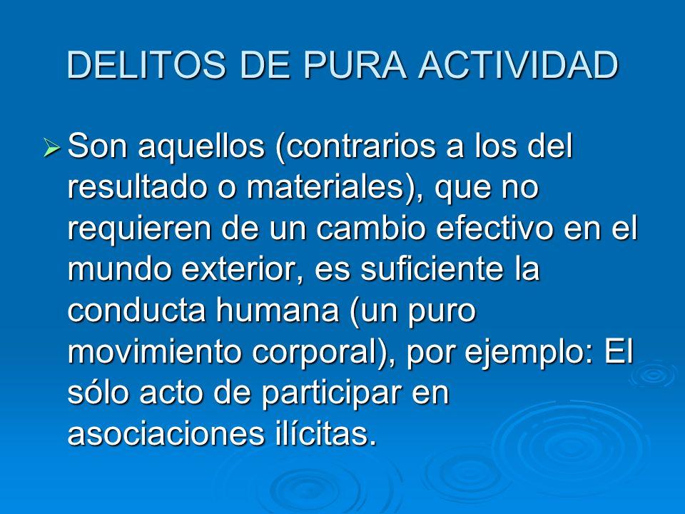 DELITOS DE PURA ACTIVIDAD