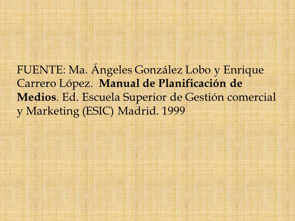 FUENTE: Ma. Ángeles González Lobo y Enrique Carrero López
