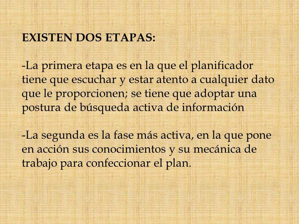EXISTEN DOS ETAPAS: