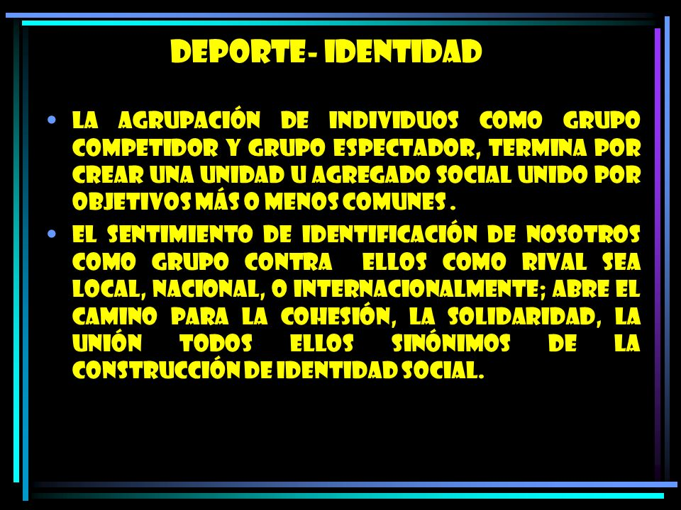 DEPORTE- IDENTIDAD