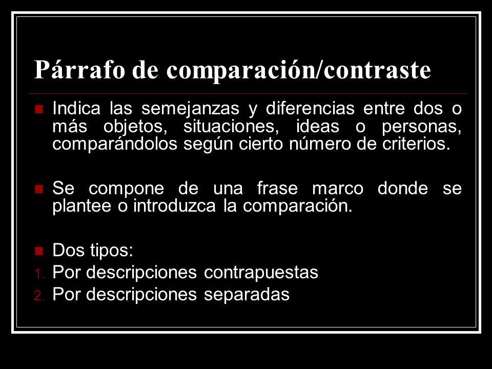 Párrafo de comparación/contraste