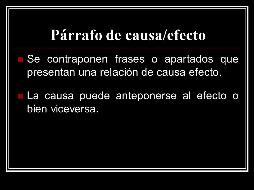 Párrafo de causa/efecto
