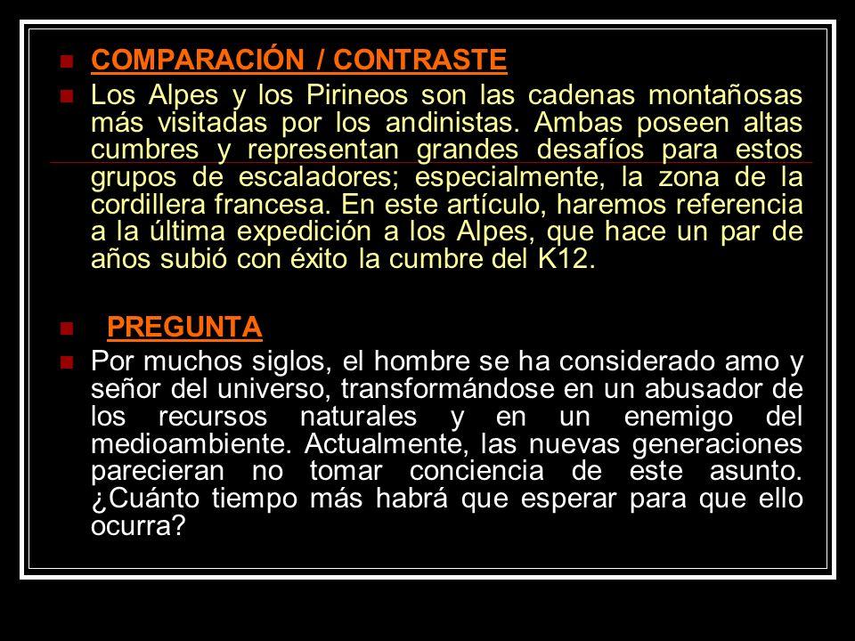 COMPARACIÓN / CONTRASTE