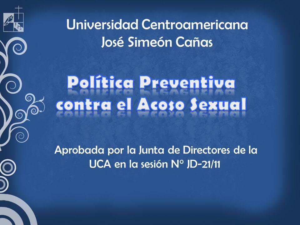Política Preventiva contra el Acoso Sexual